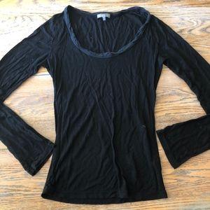 JAMES PERSE 94%supima black knit top
